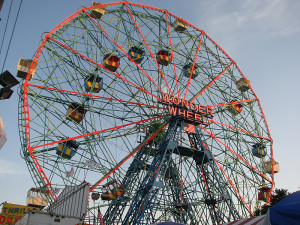 wonder wheel eccentric ferris wheel