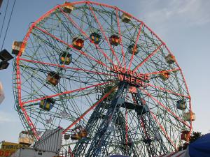 wonder wheel eccentric ferris wheel